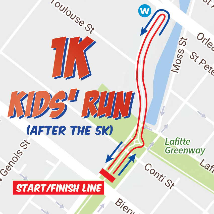 Superhero Race 2017 – 1K Kids' Run Course Map