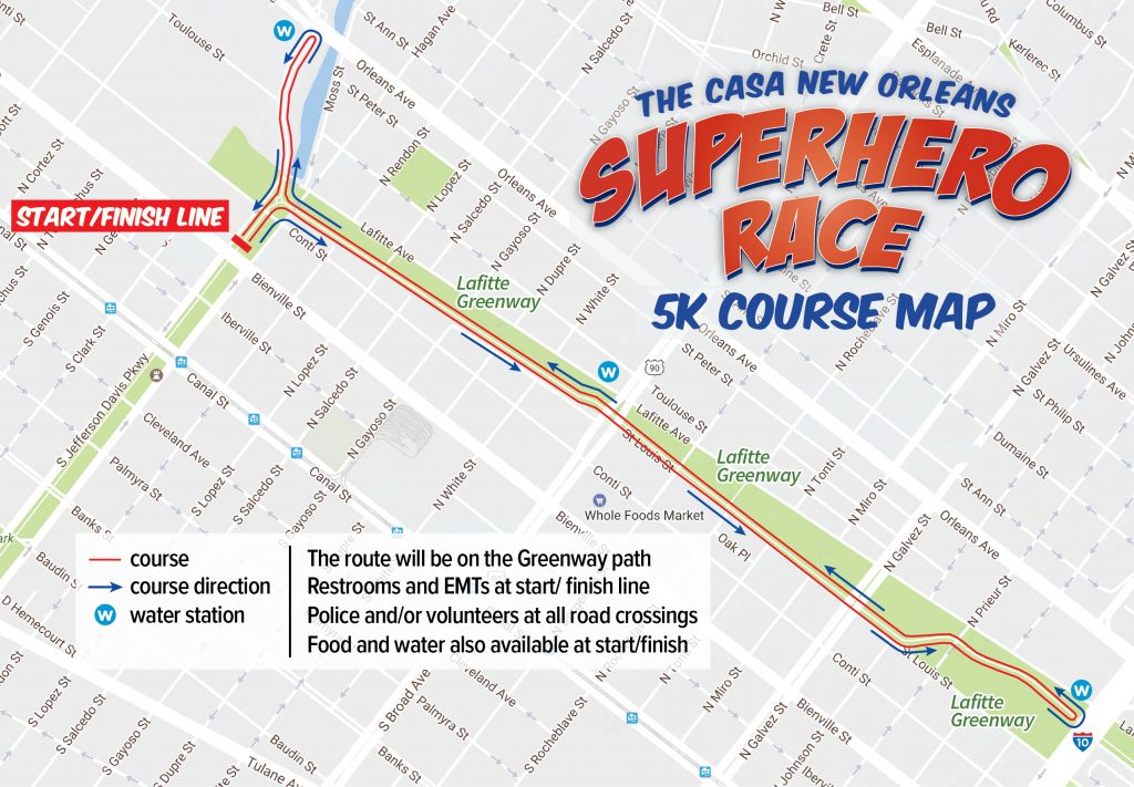 Superhero Race 2017 – 5K Course Map